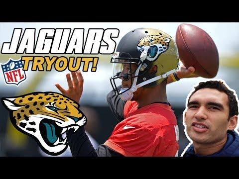 Trying out for the Jaguars!