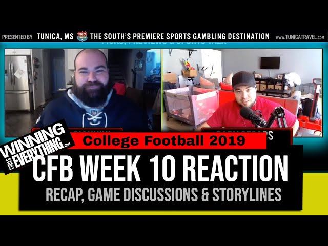 WCE: College Football Week 10 Reaction & Recap
