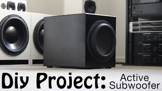 DIY BUILD - ACTIVE DAYTON ULTIMAX SUBWOOFER