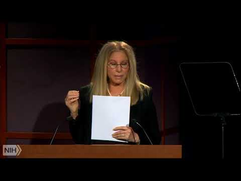 Watch Barbra Streisand's lecture at NIH about the importance of gender equity in science and health