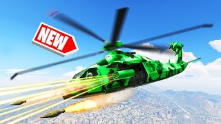 *NEW* MEGA STEALTH ARMY HELICOPTER In GTA 5! (DLC)