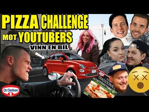 Pizza challenge mot youtubers