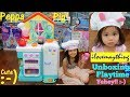 Maya Loves Peppa Pig! Peppa Pig's Kitchen Playset Unboxing and Playtime Fun! Cooking Playset