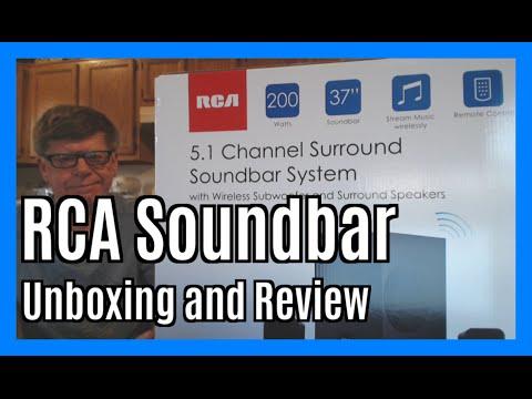 Rca 5 1 Channel 200w Surround Soundbar Speaker System