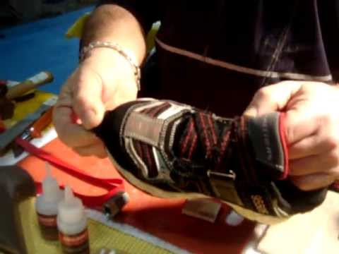 BEST GLUE FOR SHOES. FIX FAST broken children sport shoes with Black Bull Adhesive.