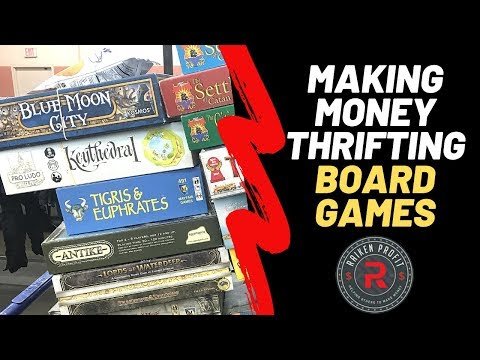 Making Money Thrifting Old Board Games To Sell On Ebay And Amazon!