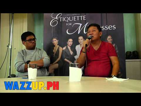 Part 9 Direk Chito Roño Blogcon for the movie Etiquette for Mistresses Blogcon