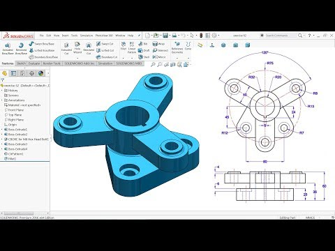 SolidWorks Tutorial for beginners Exercise 62