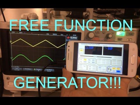 Free smartphone function generator
