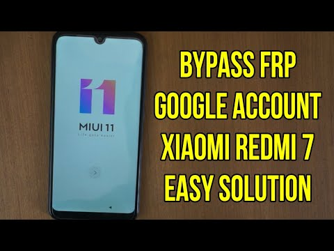 Xiaomi Redmi 7 bypass frp google account verification
