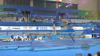 FERRARI Vanessa (ITA) – 2014 Artistic Worlds, Nanning (CHN) – Qualifications Beam