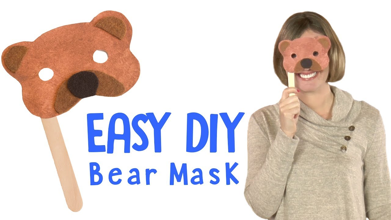How To Make A Bear Mask Diy Craft For Kids