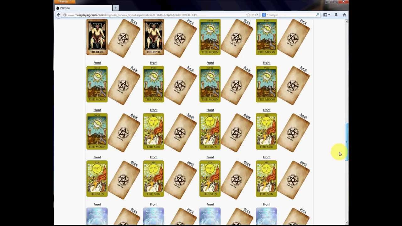 photo regarding Free Printable Tarot Cards identify Produce Your Individual Tarot Playing cards