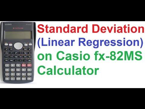 Standard Deviation (Linear Regression) On Casio fx 82MS Scientific Calculator