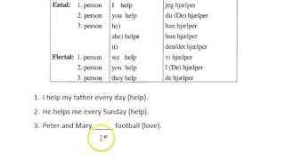 Regelmæssige verber på engelsk - nutid