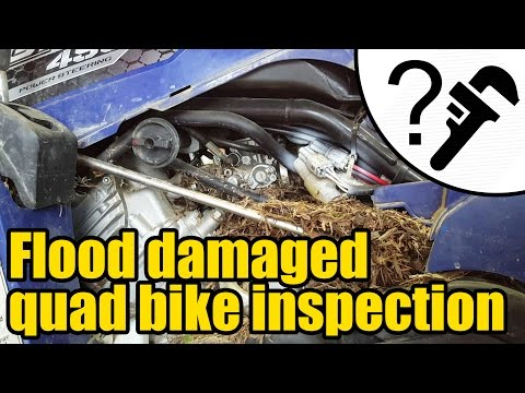 #1965 - Yamaha Grizzly 450 4x4 flood water damage inspection