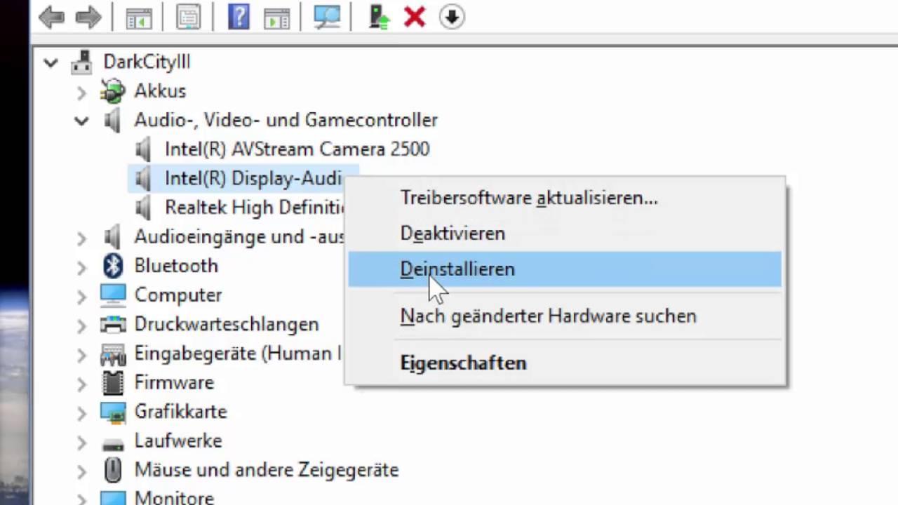 Windows HDMI Audio Treiber Problem: Workaround ohne Neustart