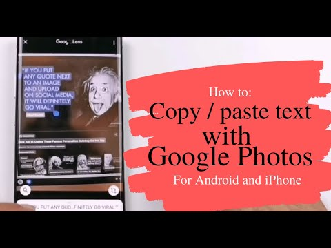 How to copy paste text in Google Photos