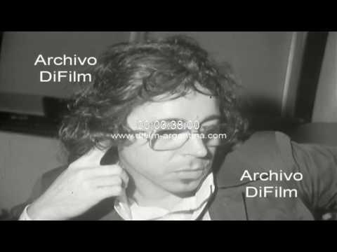 El Gato Barbieri ensayando en un teatro de Buenos Aires 1973
