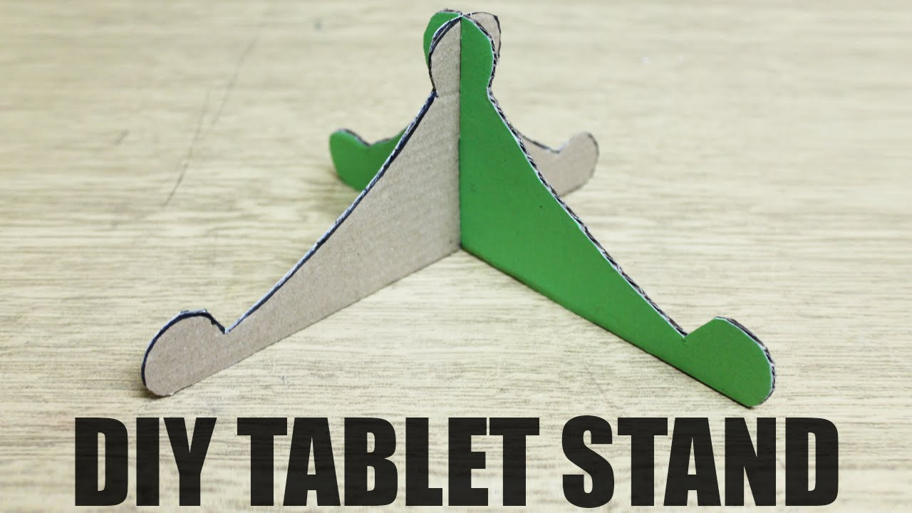 How to make a tablet stand diy tablet holder youtube malvernweather Images