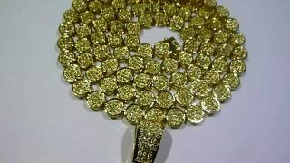 lemonade combo 12 lab made yellow diamond pave cluster chain 360 ring concave cross gucci mane