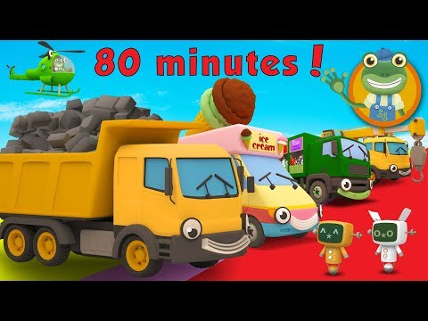 Dylan The Dump Truck and More Trucks For Kids | Gecko's Garage