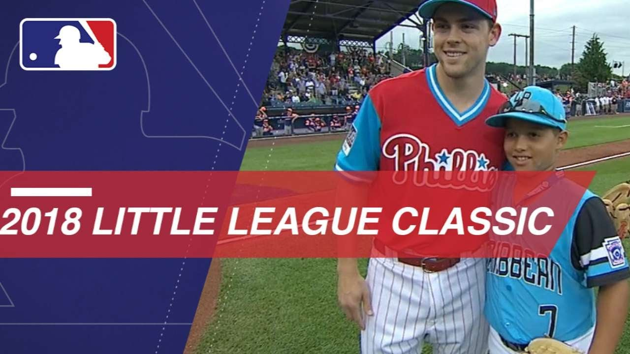 a6e5c8a0b Mets, Phillies play in 2018 Little League Classic - YouTube