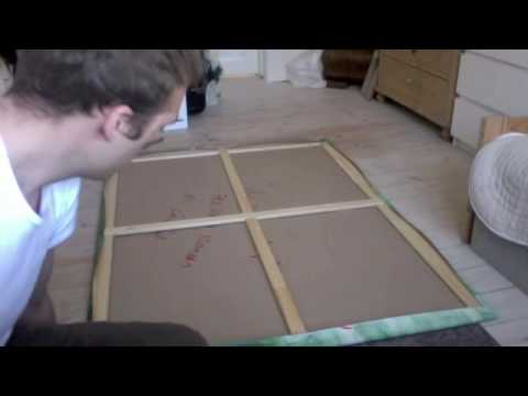 how to mount a canvas on a wooden frame and save 25 dollars youtube. Black Bedroom Furniture Sets. Home Design Ideas