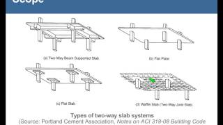 Two Way Slab Systems of Reinforced Concrete: Design for Shear by ACI 318 11