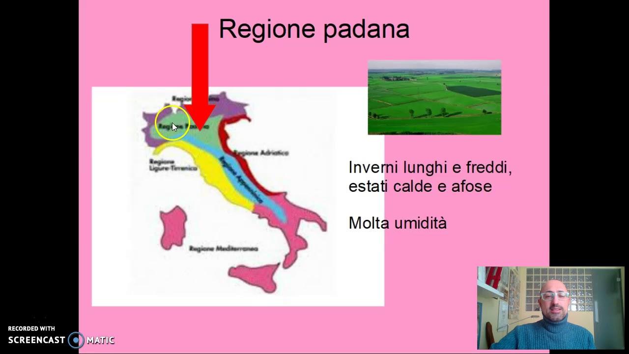 Cartina Italia Zone Climatiche.Il Clima In Italia Youtube