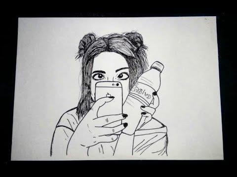 Como Desenhar Uma Menina Tumblr Tirando Foto Com Iphone