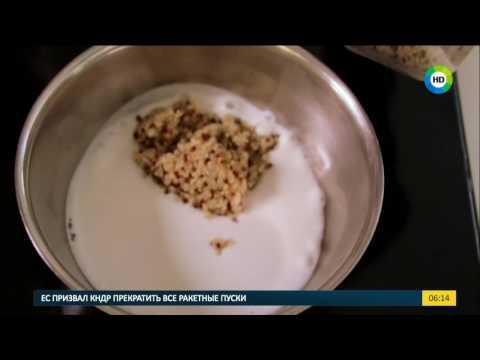 Рецепт Сегодня на завтрак Каша из киноа, кокосового молока и фруктов.