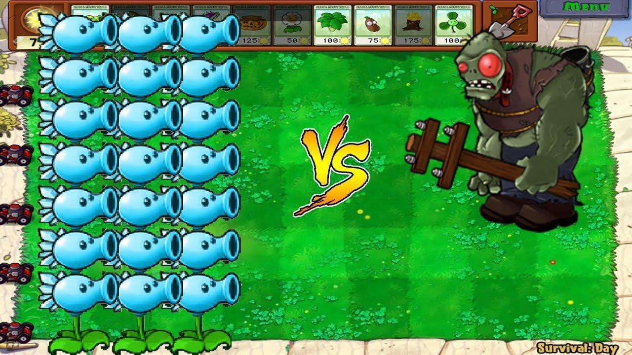 Plants vs Zombies Hack – Snow Pea vs Gargantuar vs  Dr. Zomboss