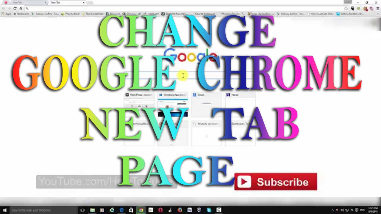 Google Chrome : How to change New Tab Page ?
