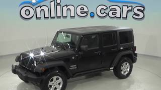 oA97866GT Used 2014 Jeep Wrangler Unlimited Sport 4WD Black Test Drive, Review, For Sale