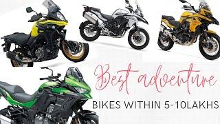 Premium Adventure touring bikes within 5-10 lakhs