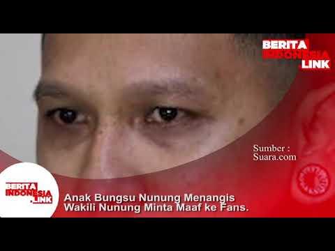 Bagus anak Komedian Nunung, menangis wakili Nunung minta maaf ke Fans.