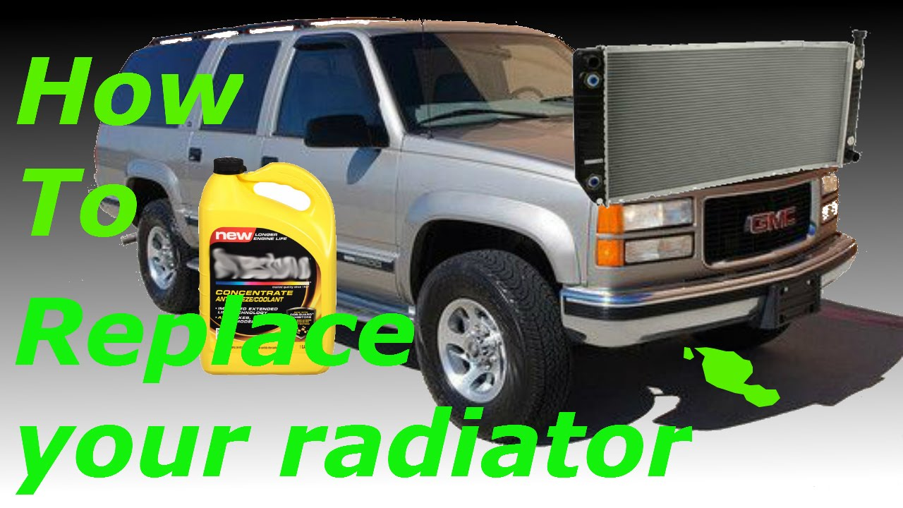 how to replace a radiator 1999 gmc suburban youtube. Black Bedroom Furniture Sets. Home Design Ideas