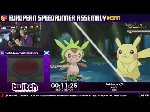 #ESA17 Speedruns - Pokémon X/Y [Any%] by GarfieldTheLightning