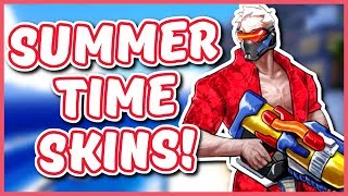 Overwatch - SUMMER TIME SKIN IDEAS (Summer Games Event 2017)