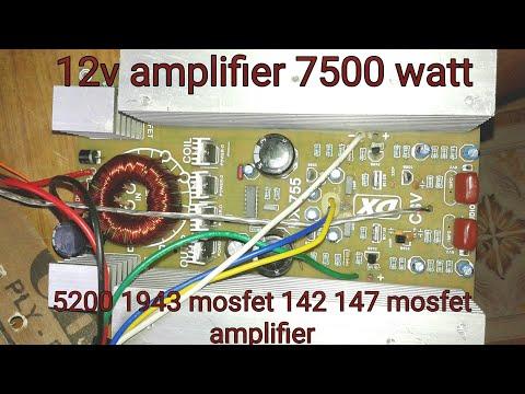 12v amplifier !! 5200 1943 mosfet amplifier !! 142 147 mosfet