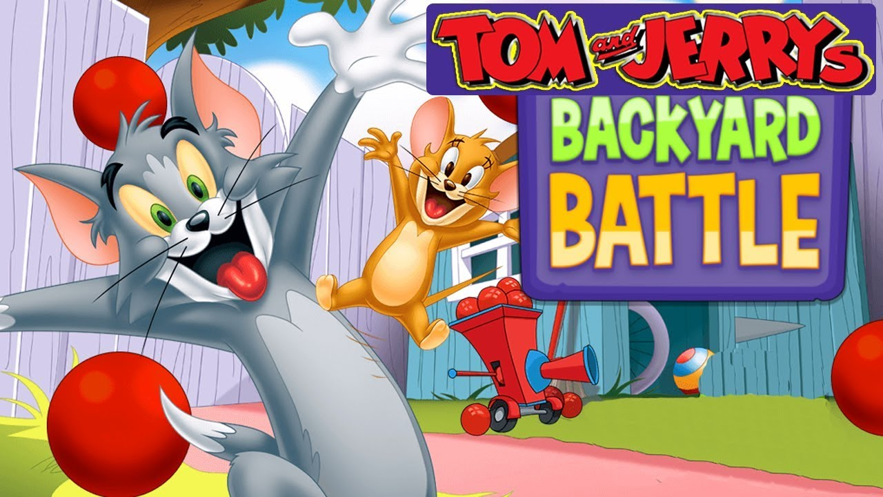 Tom And Jerry - Backyard Battle. Fun Tom and Jerry 2018 Games. Baby Games #LITTLEKIDS