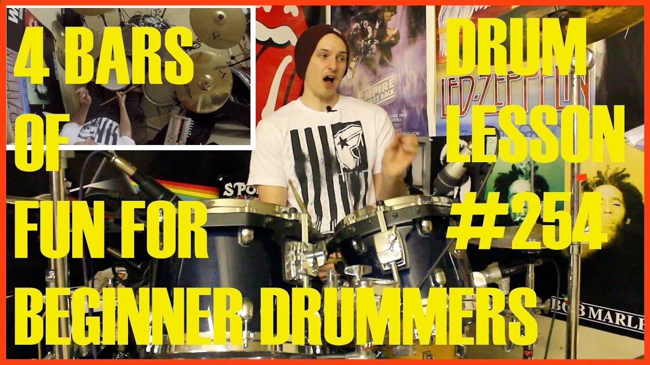 Cool Rock, Pop Drum Beats For Beginner Drummers - Drum Lesson #240