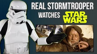 Real Stormtrooper Reacts to STAR WARS