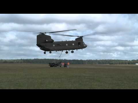 RAW VIDEO: 116th BCT Soldiers conduct sling load operations