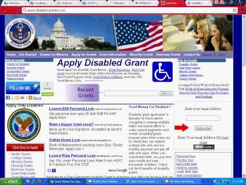 Grants for disabled adults including the elderly and disabled veterans