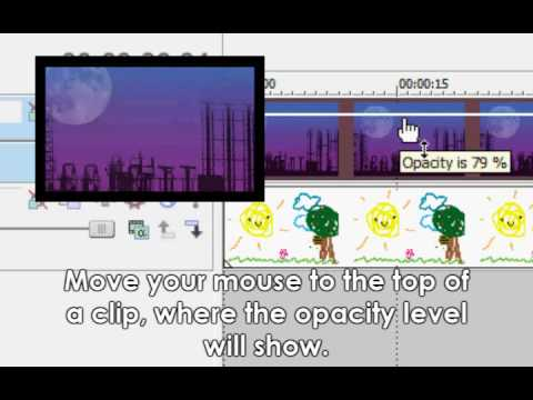 how to change opacity in sony vegas pro 13