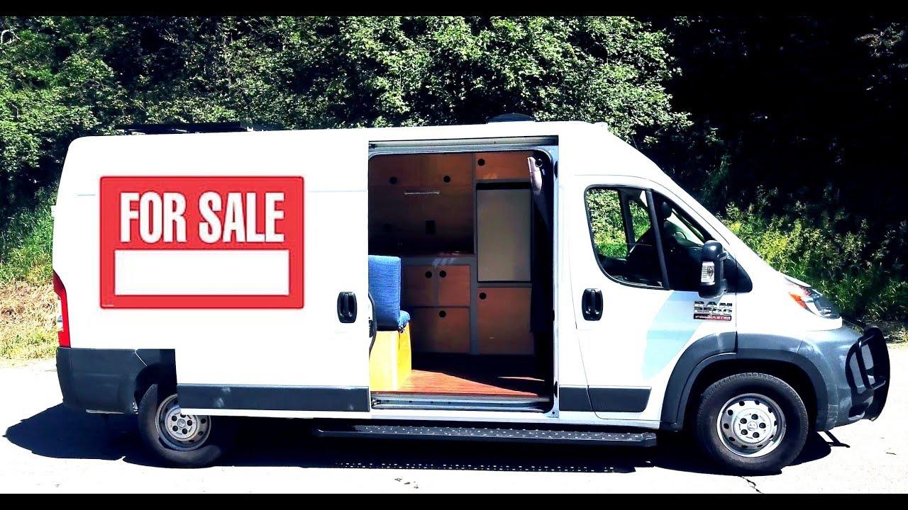 Camper Vans For Sale >> Custom Camper Van For Sale Full Bed Solar Hot Water