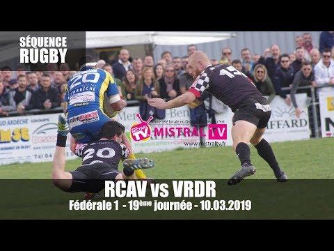2019 03 10 Séquence RUGBY   Fédérale 1 19ème journée    RCAV vs VRDR