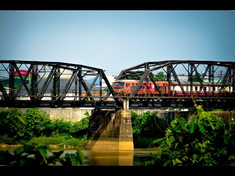 รถไฟไทย สายใต้ : วิวริมน้ำสะพานรถไฟ ข.176